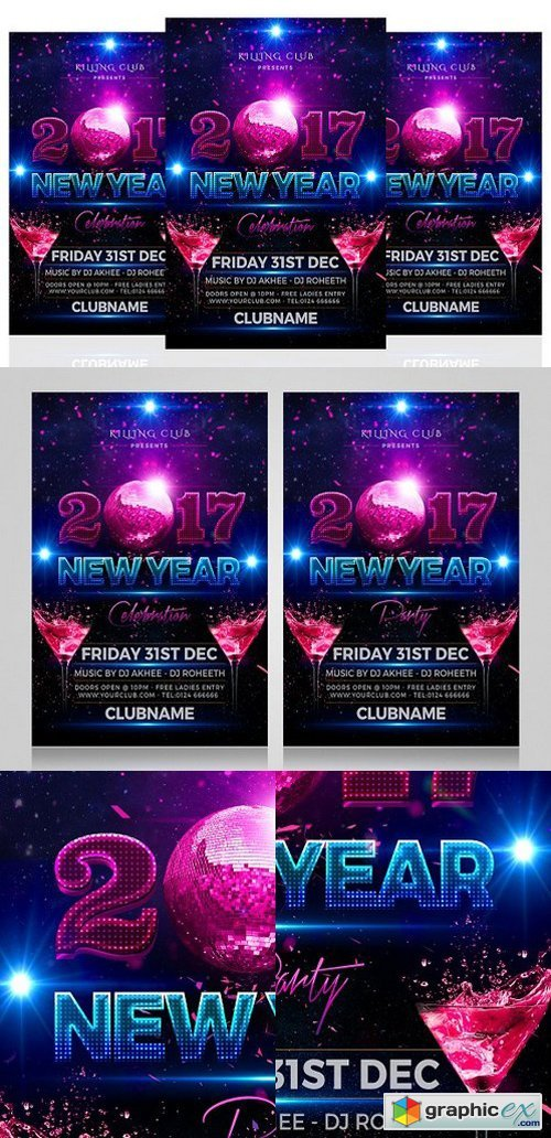 New Year Party Flyer 1098458