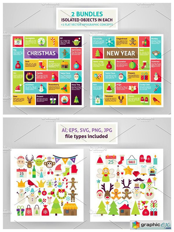 Christmas & New Year Infographics » Free Download Vector