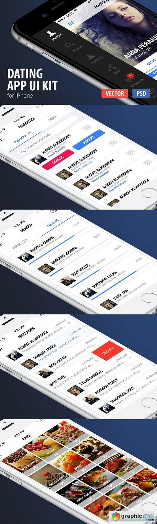 Dating App Ui Kit for iPhone