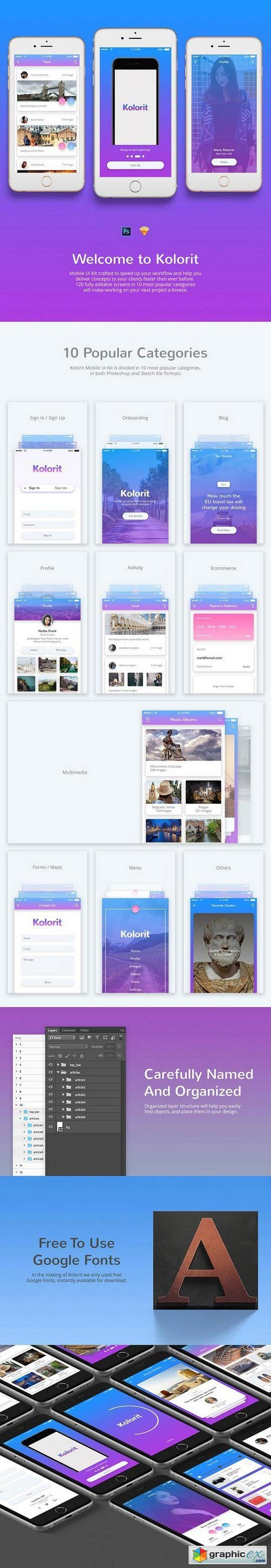 Kolorit Mobile UI Kit