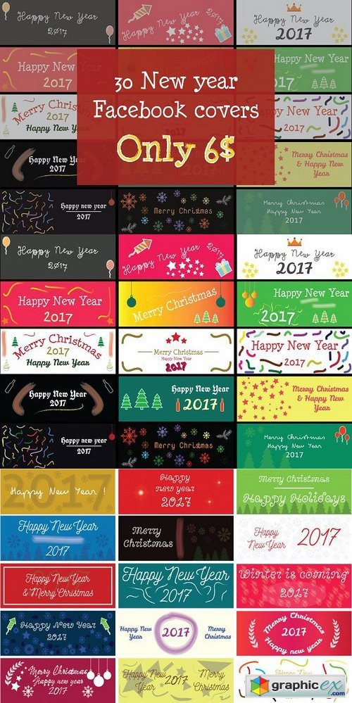 New year Facebook cover bundle (30)