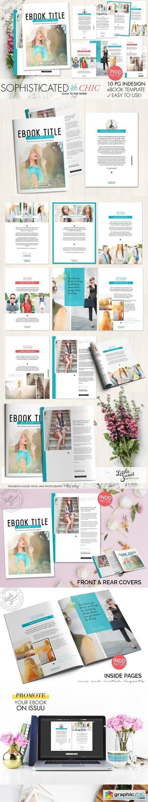 10 page InDesign INDD eBook Template » Free Download Vector Stock ...