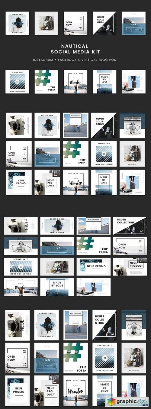 Nautical Keynote Social Media Kit