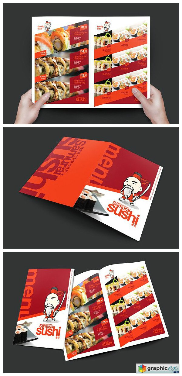 Folding a3 sushi menu template free download vector stock image folding a3 sushi menu template pronofoot35fo Choice Image