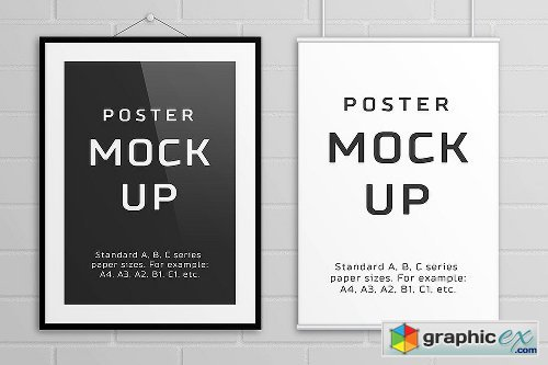 Poster Mock Up � A/B/C Paper Sizes