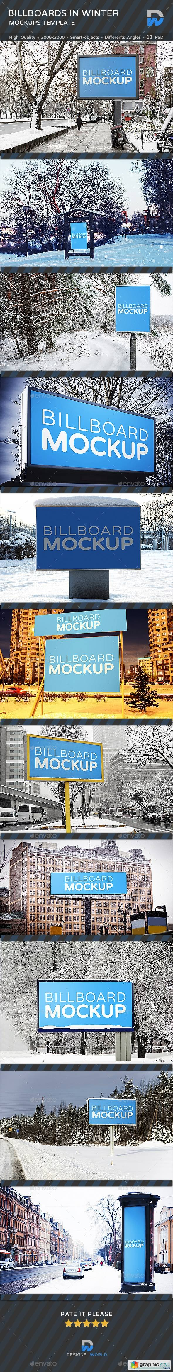 Billboards Mock-ups in Winter