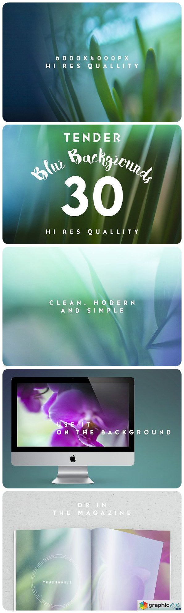 30 Tender blur texture backgrounds
