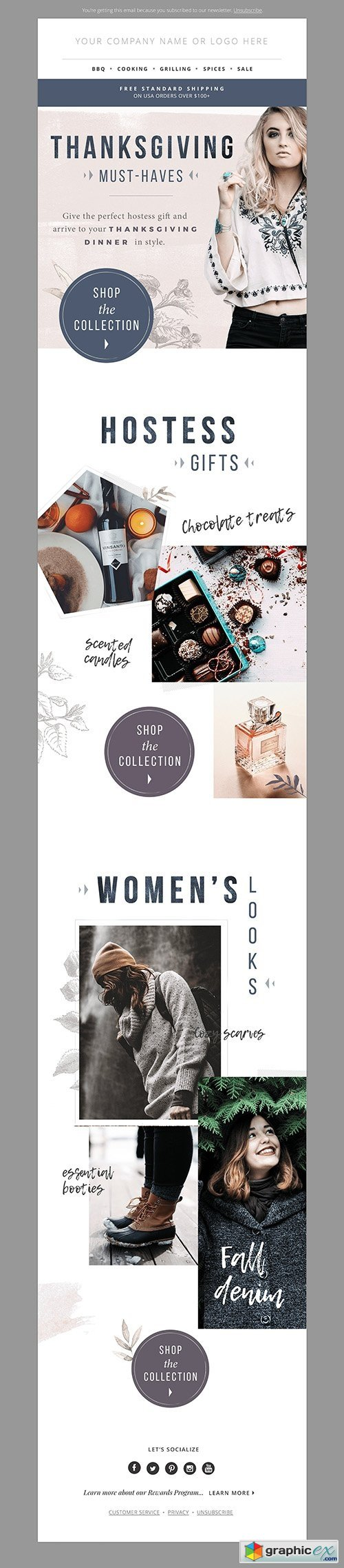 Gift Guide E-mail Template PSD