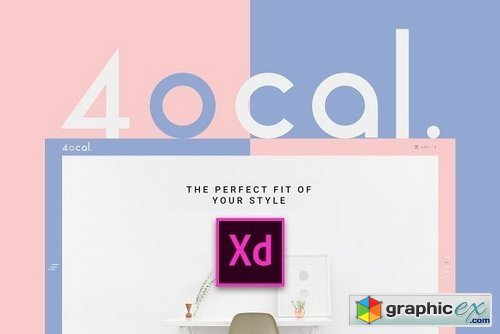 4ocal Web UI Kit for Adobe XD