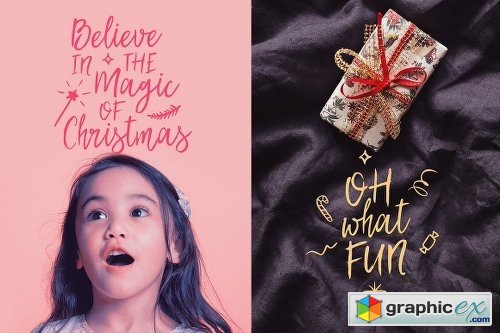 'My Dear Santa' Magical Font + BONUS