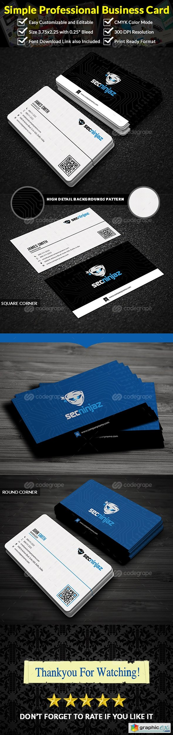 Professional business card 11498 free download vector stock image professional business card 11498 reheart Choice Image