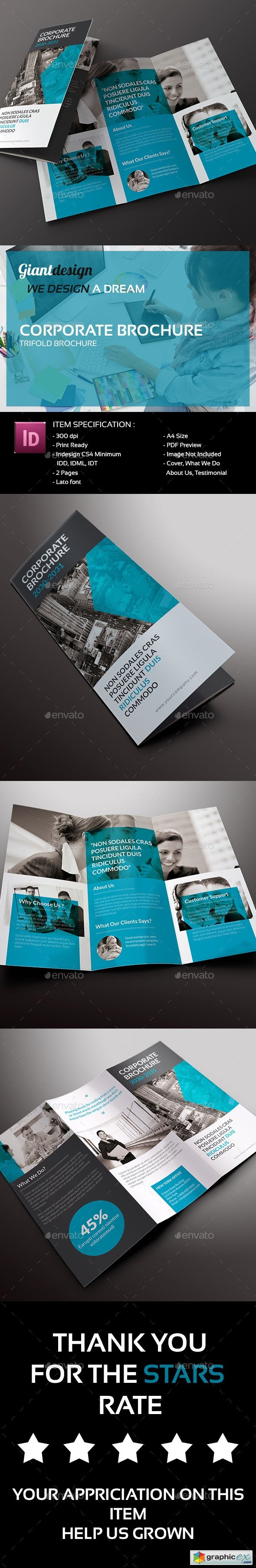 Corporate Trifold Brochure 10020433