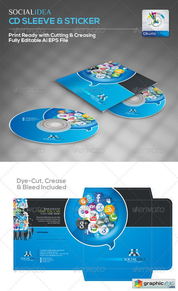 Socialidea Creative Social Media CD Packaging