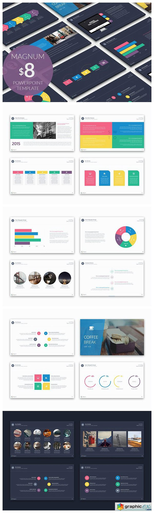 Magnum Powerpoint Template