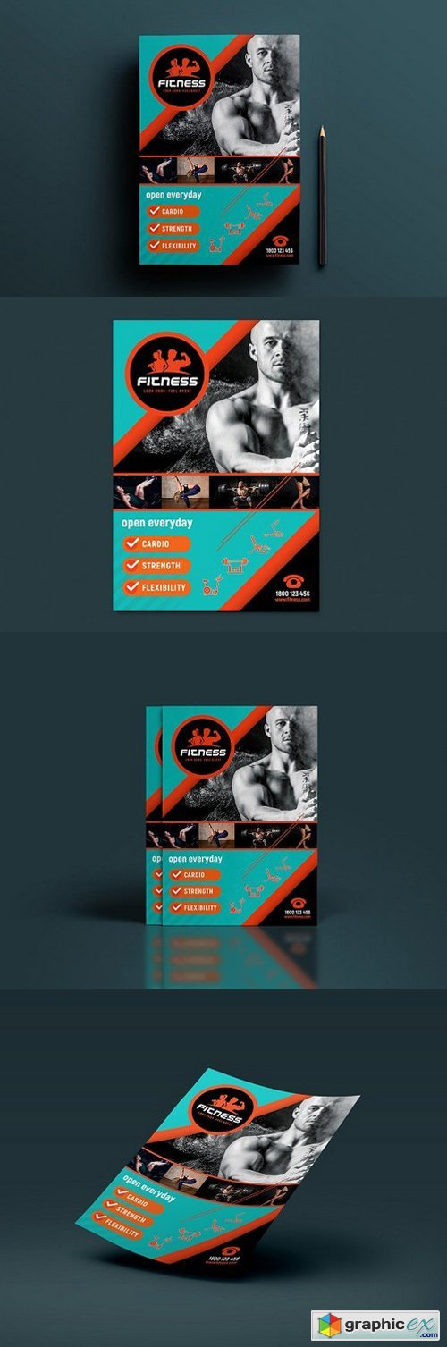 A4 Gym / Fitness Poster Template