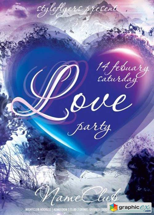 Love Party V16 Club and Party Flyer PSD Template