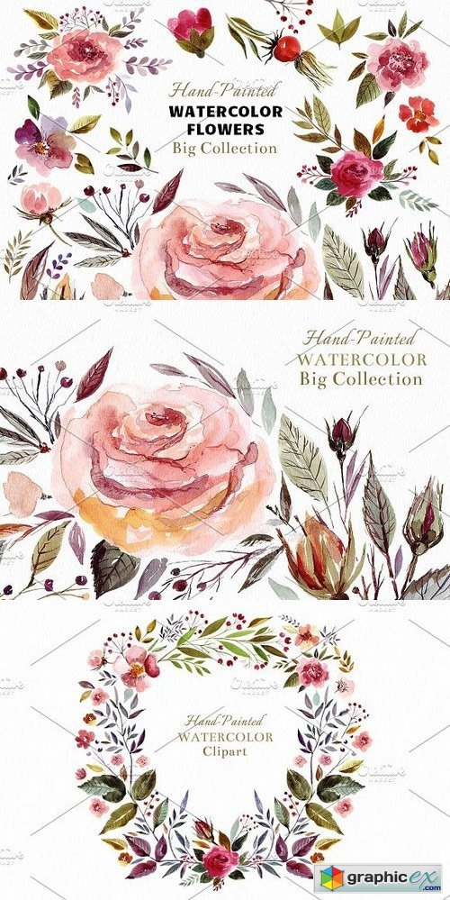 Big Watercolor Bundle 656548