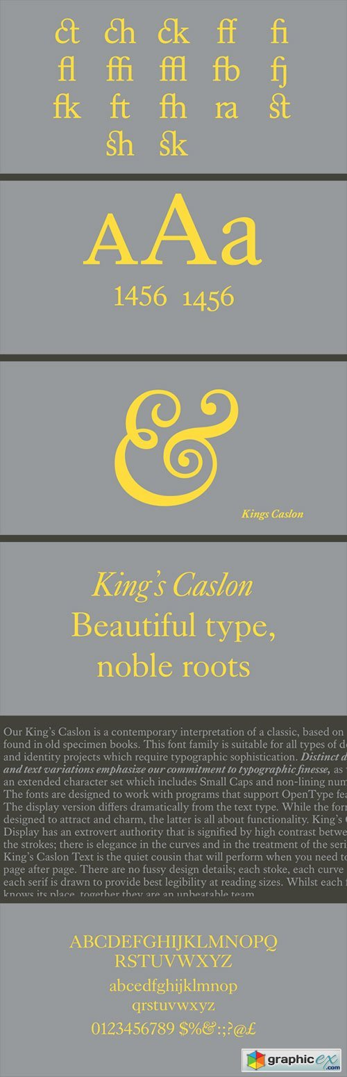 Kings Caslon Font Family » Free Download Vector Stock Image