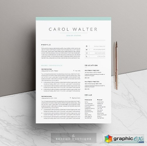 5 Page Resume Template | Upgrade