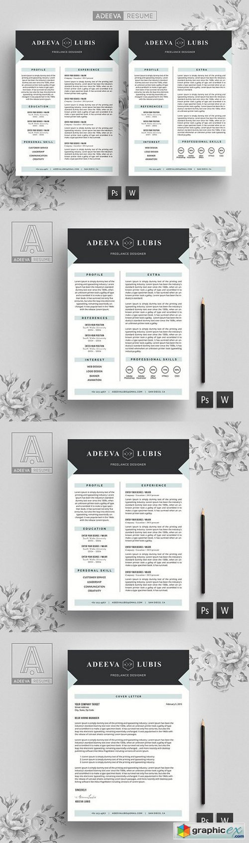 Modern Resume Template Lubis