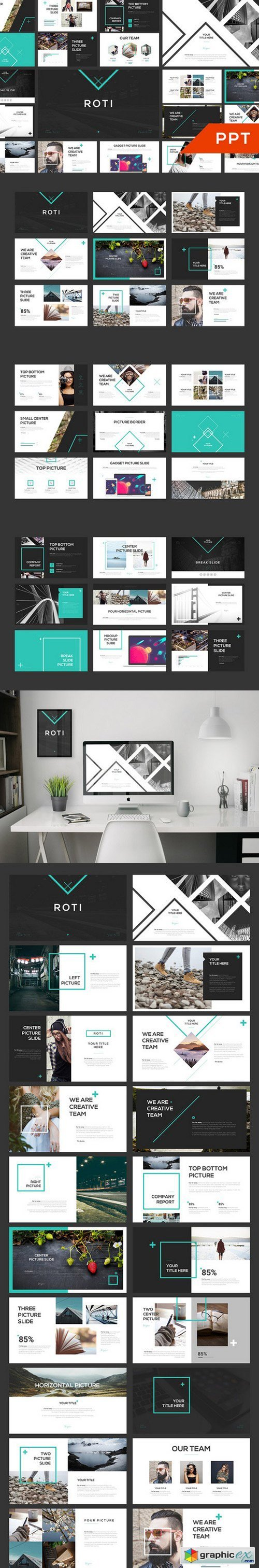 ROTI PowerPoint Template 581732 » Free Download Vector Stock Image ...