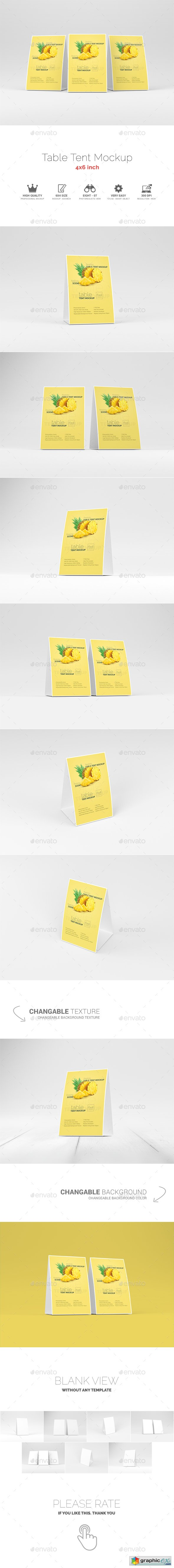 Table Tent Mockup 15449394