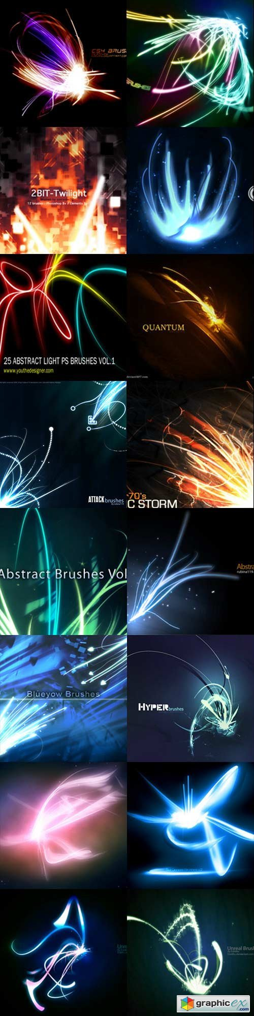 Abstract lines brushes - 2