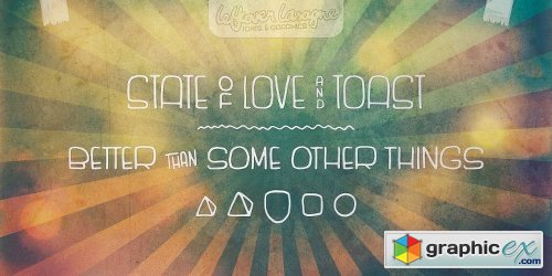 State of Love and Toast LL Font