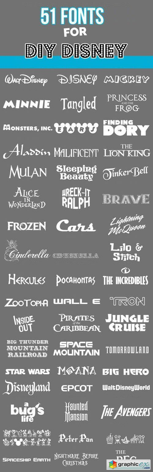 51 Disney Fonts Collection » Free Download Vector Stock