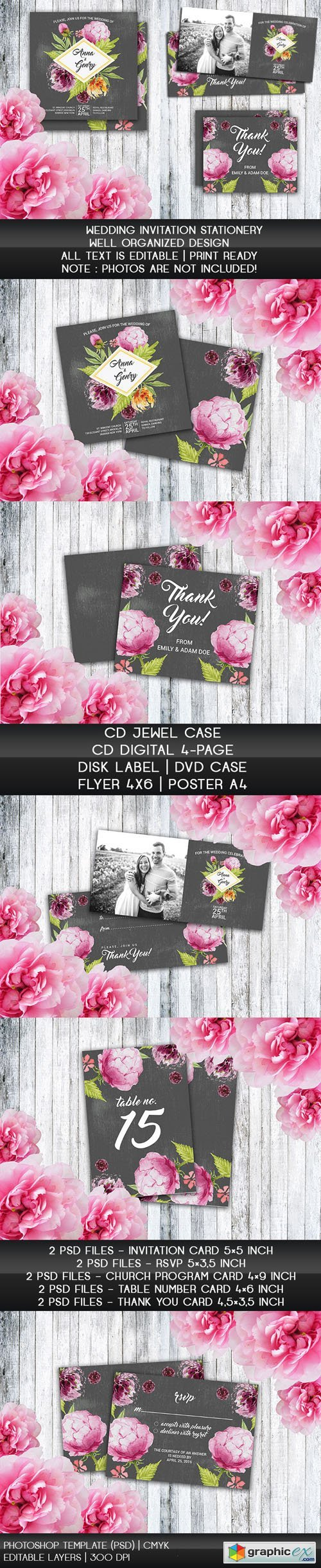 Wedding Invitation Stationery Psd Templates Free Download