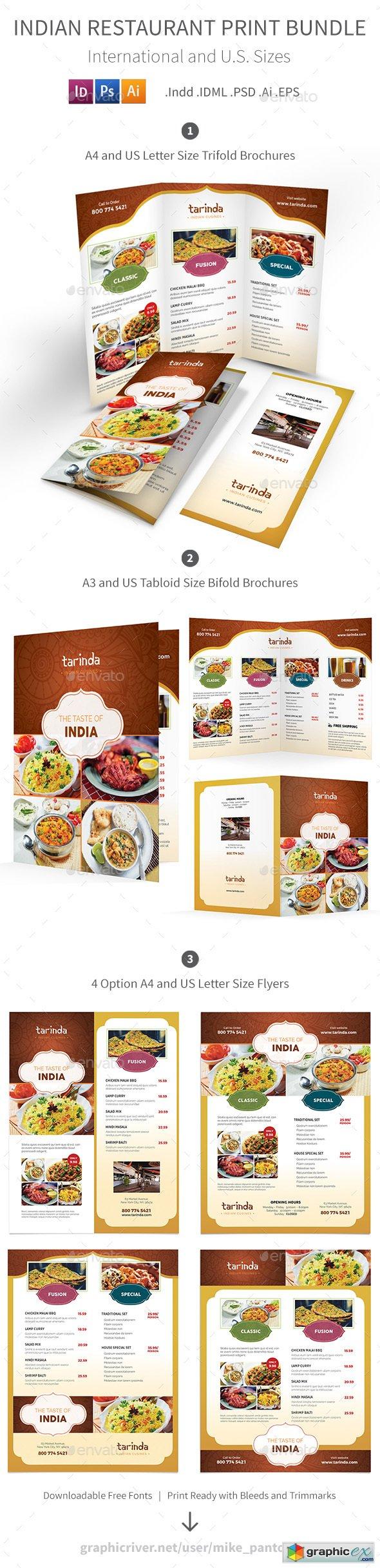 Free downloadable restaurant menu templates