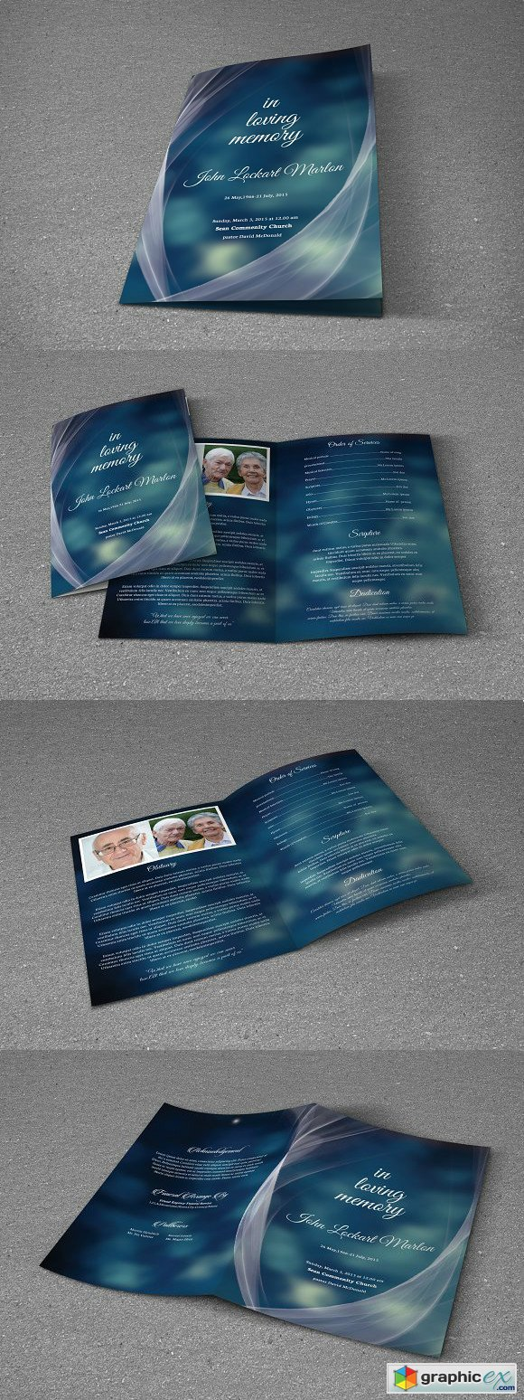 Funeral Program Template-T476