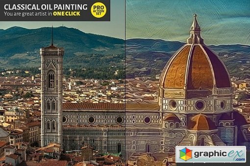Classical Oil Painting Photoshop Actions