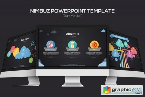 Nimbuz Powerpoint Template Dark Version Free Download