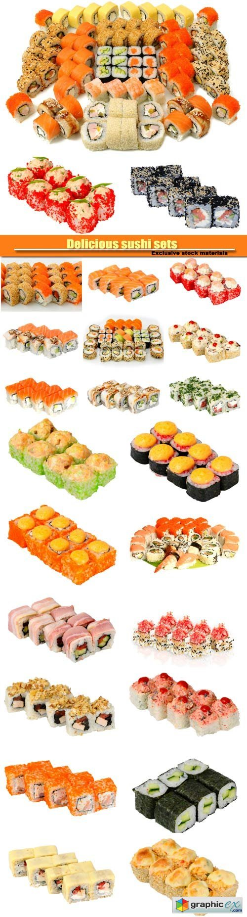 Delicious sushi sets