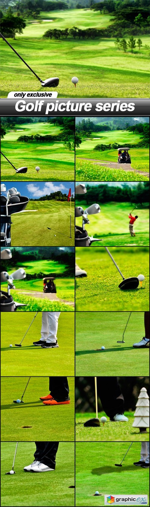 Golf picture series - 12 UHQ JPEG