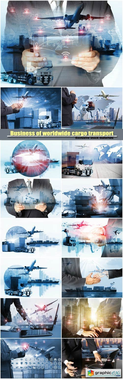 Business of worldwide cargo transport, global business commerce concept, import-export