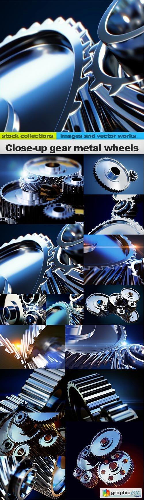 �lose-up gear metal wheels, 15 x UHQ JPEG