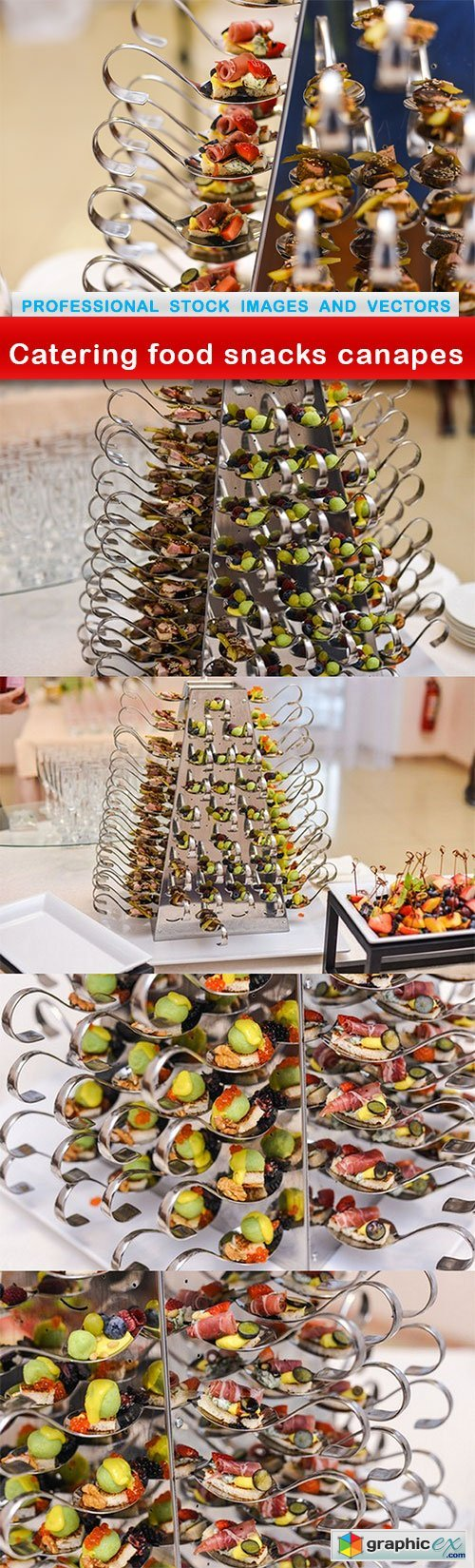 Catering food snacks canapes - 5 UHQ JPEG