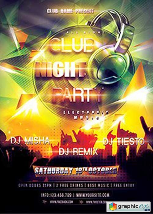 Nightclub Flyer Template V11 Flyer Template » Free Download
