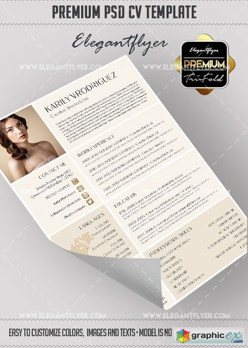 CV Premium CV and Cover Letter PSD V12 Template