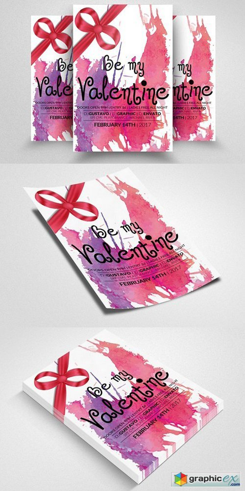 Valentines Party Flyer Templates 1168076