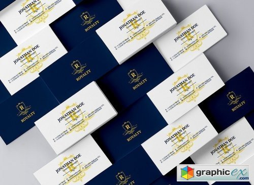 Simple Royal Business Card 56