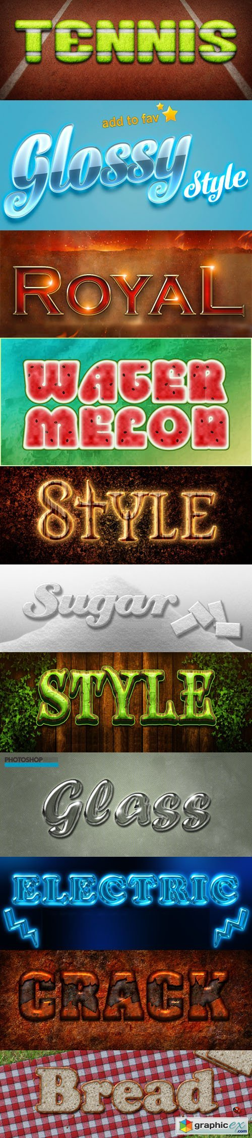 11 Text Effects & Styles for Photoshop