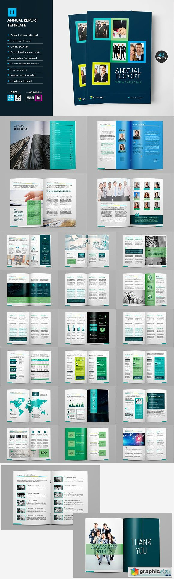 Annual Report Template V11 Free Download Vector Image – Annual Report Template