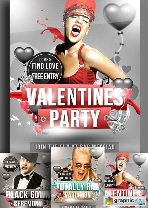 Valentines Day Party V34 Flyer PSD Template