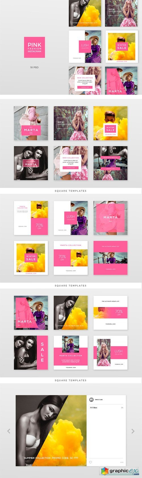 Pink Fashion Instagram Pack