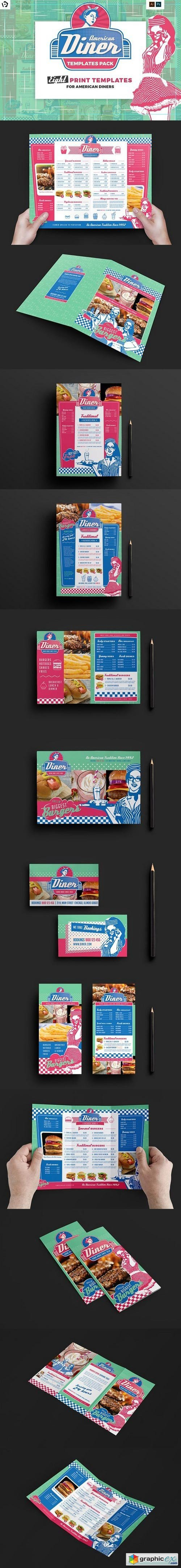 American Diner Menu Templates Pack