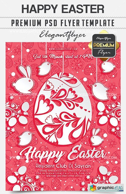 Happy Easter � Flyer PSD Template + Facebook Cover