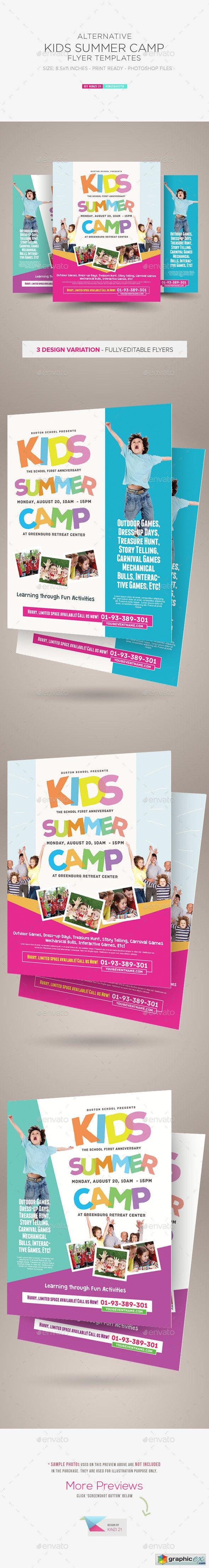 Kids Summer Camp Flyer Templates 10476259